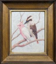 Alvah Earlington Rosebray (XX) - Gallah and Kookaburra 28 x 23cm