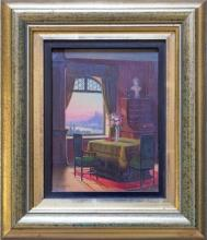 Herman Klingsbogl (Austrian) 1874 - 1943 - Interior study 17 x 12.5cm