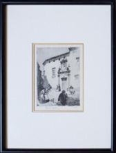 Lionel Lindsay - Spanish Street Scene 13 x 9cm