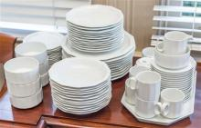 A Rosenthal Studio line white porcelain dinner service for 10, including coffee service