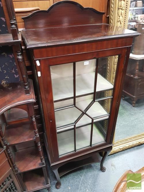 Edwardian Mahogany Display Cabinet With Astragal Door Cab