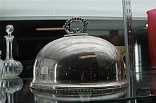 Small Silver plated Meat Dome