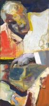 Dave Brewer (XX - ) - Figure Holding Rail, 1992 65 x 30.5cm