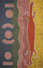 Kaapa Tjampitjinpa (c1920 - 1989) - Goanna Dreaming, 1988 79 x 50cm (stretched & ready to hang)