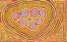 Winifred Richards (XX) - Wan Mala Tjukurpa, 2008 93 x 148cm (stretched & ready to hang)