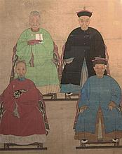 Chinese Ancestor Painting on Rice Paper
