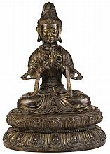 Chinese Fine Antique Bronze Figure of Guanyin