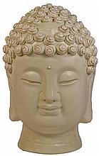 Chinese Fine Life Size Blanc De Chine Head of Buddha