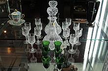 Cristal D'Arques Drinks Set & a Coloured Glass Sherry Set