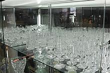 Large Suite of Crystal Glasses