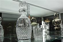 Waterford Crystal Decanter and Glass