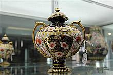 Royal Crown Derby Imari Pattern Lidded Urn (restored)