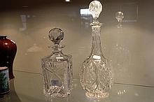 2 Crystal Decanters incl Atlantis