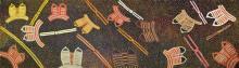Ada Bird Petyarre (c1930 - 2009) - Body Paint, 1998 182 x 594cm