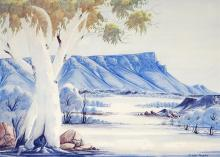Claude Pannka (1928 - 1972) - Towards Mt Connor, Central Australia 50 x 69.5 cm (frame: 77 x 98 x 5 cm)