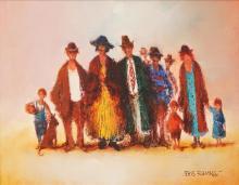 Eris Fleming (1943 - ) - O'Leary's Cherry Picking Team 25 x 32.5cm