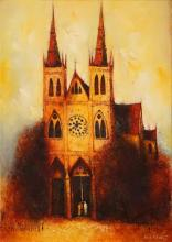 Eris Fleming (1943 - ) - The Cathedral 63.5 x 45cm