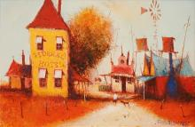Eris Fleming (1943 - ) - White Ant Avenue 17.5 x 26.5cm