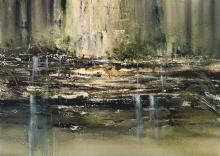 GEOFF DYER (1947 - 2020) - Untitled (Landscape) 71 x 101 cm (frame: 103 x 131 x 5 cm)
