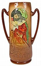 Royal Doulton 'Heres-A-Health Unto His Majesty Vase by Noke