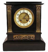Marque Déposé Black Slate Clock