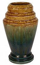 Regal Mashman Green & Gold Glaze Vase