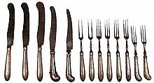 Silver Late 18th Century Part Cutlery Set