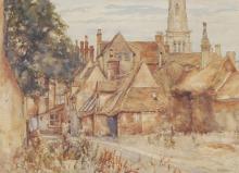 John Doddy Walker (1863 - 1925) - Country Cottage 27 x 37cm
