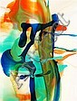 DALE FRANK (born 1959) - Untitled 2007 varnish and acrylic on linen, Dale Frank, Click for value