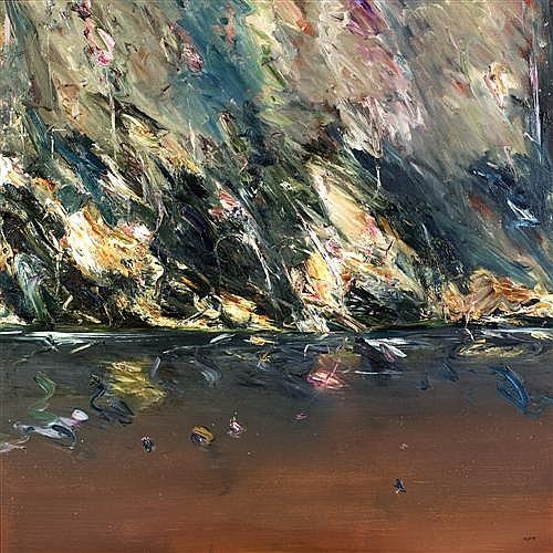 GEOFF DYER (born 1947) - Tasmanian Wilderness (Billabong) oil on canvas