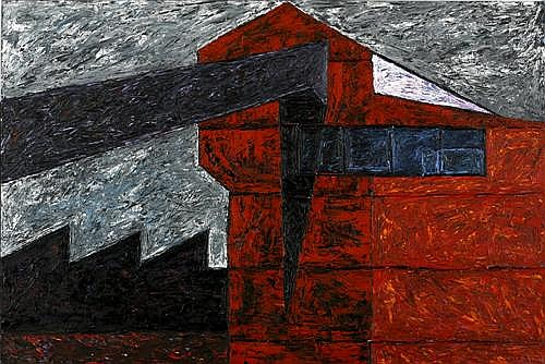 MANDY MARTIN (born 1952) - Powerhouse 1 1982 oil on canvas