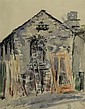JESSIE TRAILL (1881-1967) - Abandoned Building pastel and watercolour on paper, Jesse Constance Alicia   Traill, Click for value
