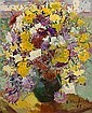 LUDMILLA MEILERTS (1908-1998) - Floral Still Life 1962 oil on board, L. Krastina-Meilerte, Click for value