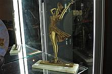 1950's Brass Figure on Marble Base