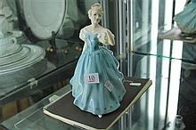 Royal Doulton Figure 'Enchantment' HN2178 plus Royal Doulton Figures Catalogue and Dinner Invite