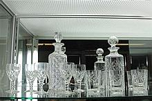 Edinburgh Crystal Decanter and Glasses together with Hobnail Decanter and Stuart Glasses