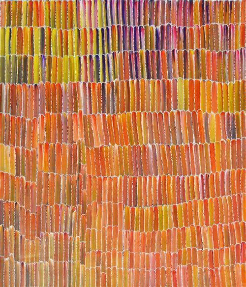 Jeannie Mills Pwerle - Bush Yam 102 x 94cm