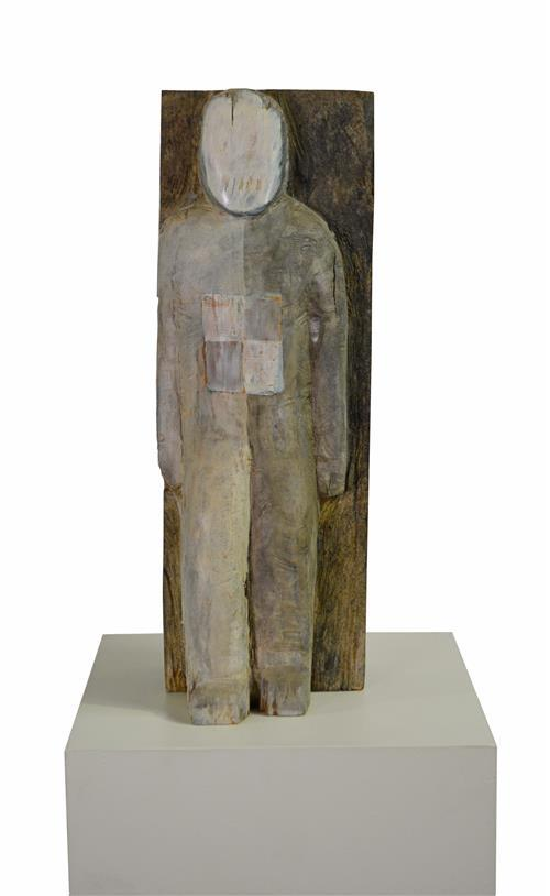 Bruce Armstrong (1957 - ) - Standing Figure h. 60cm (134cm with plinth)