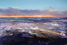 Geoff Dyer (1947 - ) - Ocean Beach Foam, 2015 122.5 x 183.5 cm