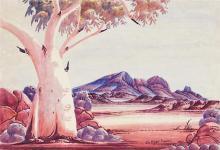 Claude Pannka (1928 - 1972) - Central Australian Landscape 38.5 x 54.5 cm