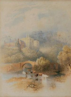 HENRY M. BURN (1807? - 1884) - Lismore Castle, Waterford, 1871 25.5 x 18 cm