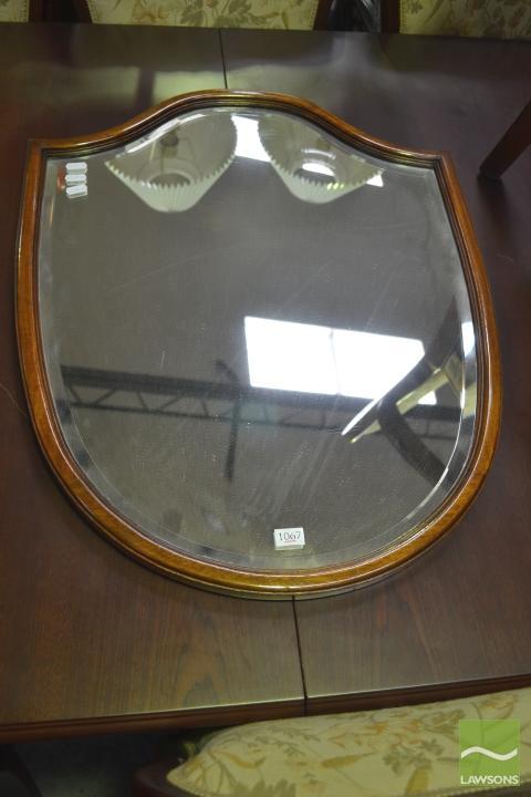 Edged Shield Shape Timber Framed Shield S...
