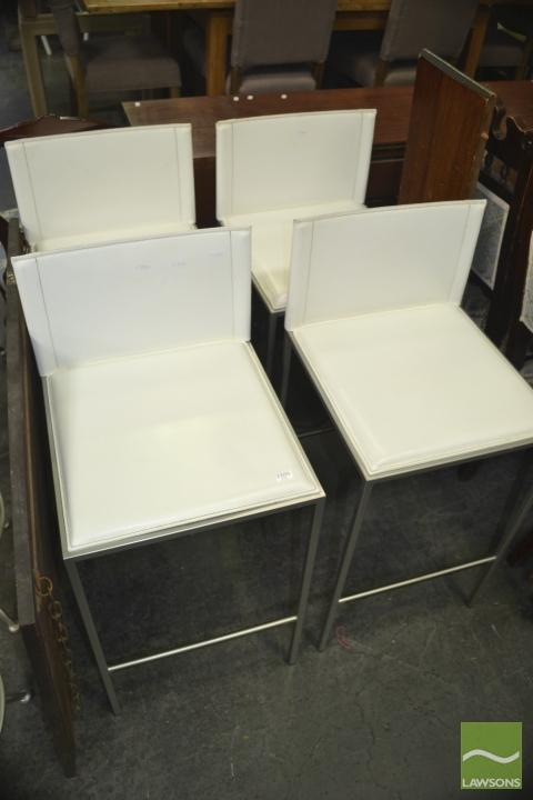 Set Of Four Calligaris Bar Stools Made In Italy