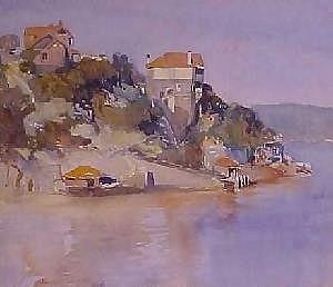 Lionel Lindsay (1874-1961) - Raglan Street Wharf, Mosman