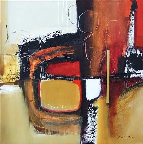 Natasha Barnes (1969 - ) - Abstract #28 90 x 90cm