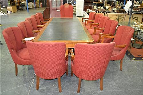 Set Of 9 Blackwood Boardroom Chairs Ex Royal Sydney Yacht Sq