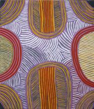 Ada Bird Petyarre (c1930 - 2009) - Awelye Alchira, 1997 78 x 67cm (stretched & ready to hang)