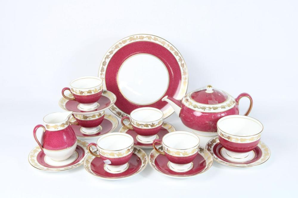 Wedgewood Tea Service In Rouge Red