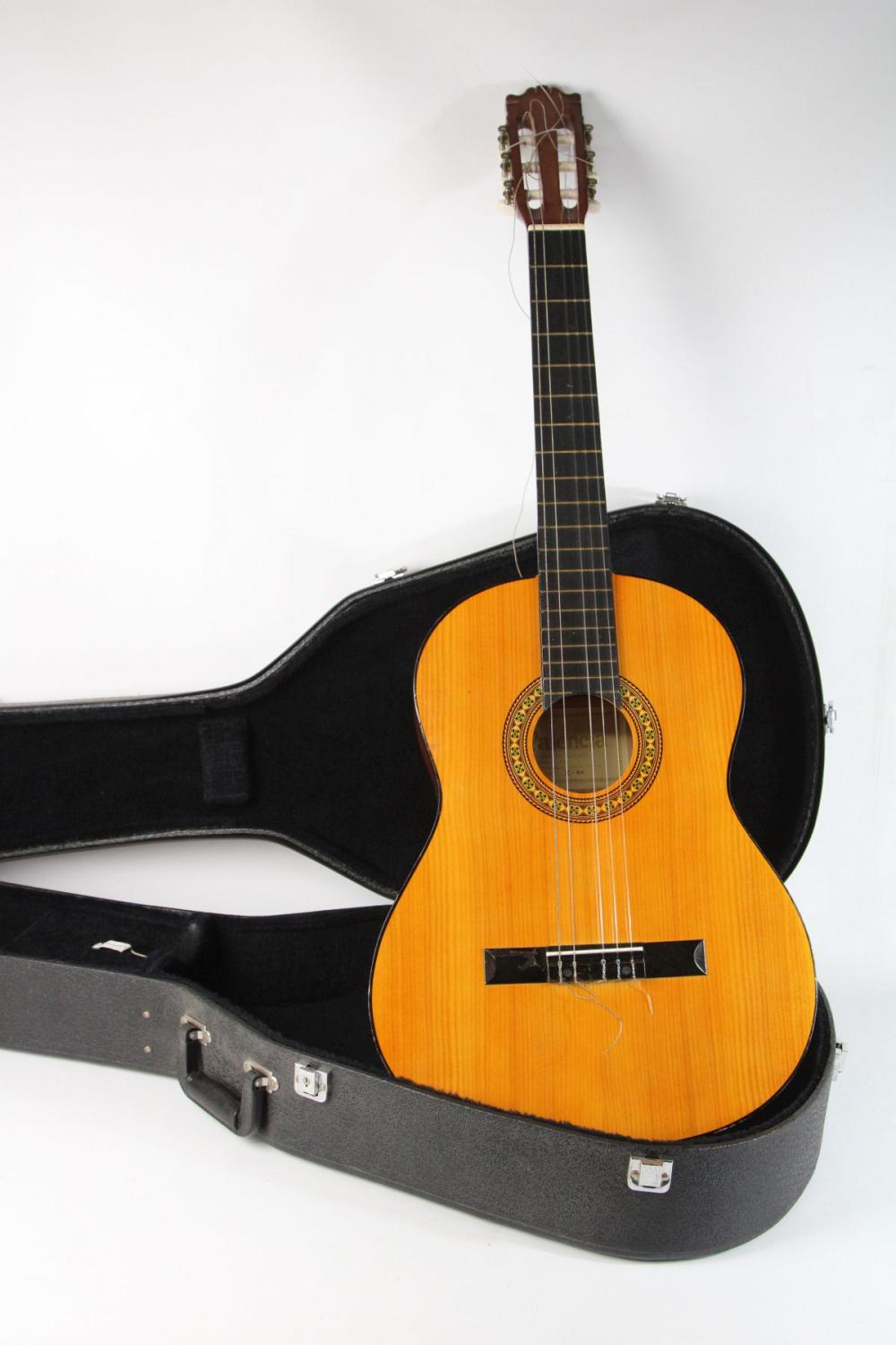 Valencia Accoustic Guitar In Road Case (L: 100cm)