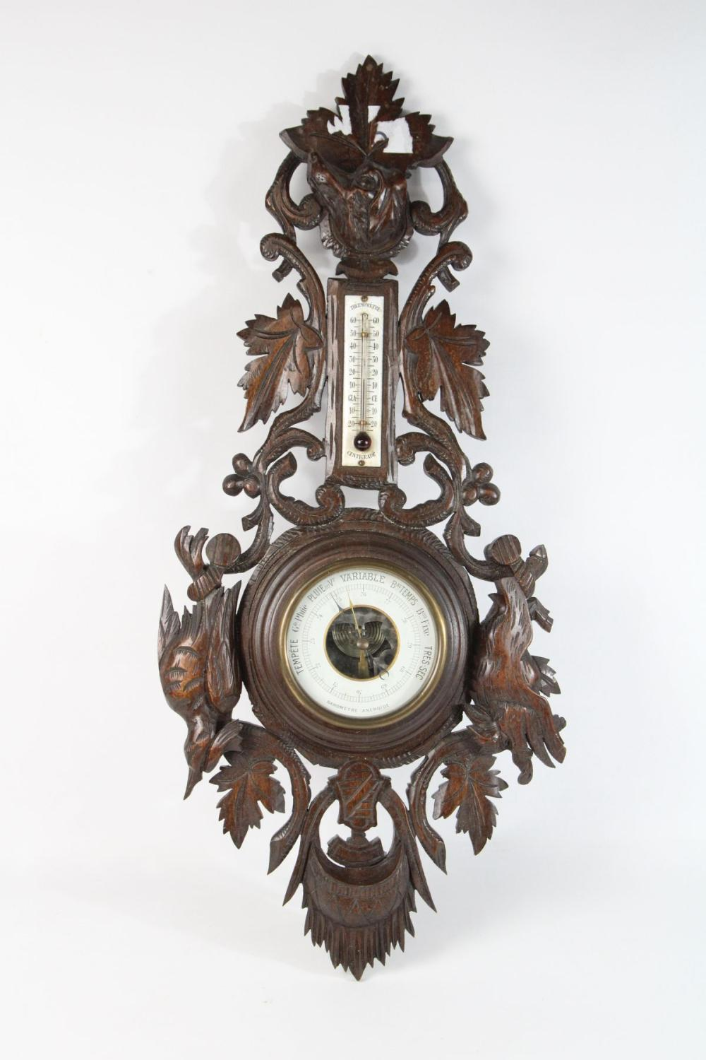Carved Oak Barometer L: 70cm